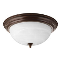 Progress P3926-20EBWB Alabaster 3 Light 15 inch Antique Bronze Flush Mount Ceiling Light in Bulbs Included photo thumbnail