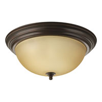 Progress Lighting Alabaster 3 Light Flush Mount in Antique Bronze P3926-20TEBWB