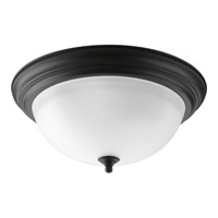 Melon 3 Light 15 inch Forged Black Flush Mount Ceiling Light in 15-1/4