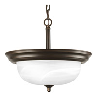 Progress Lighting Alabaster 2 Light Semi-Flush Mount in Antique Bronze P3927-20 photo thumbnail
