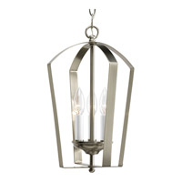 Progress P3928-09 Gather 3 Light 10 inch Brushed Nickel Hall & Foyer Ceiling Light