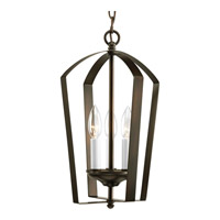 Gather 3 Light 10 inch Antique Bronze Hall & Foyer Ceiling Light