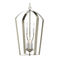 Progress P3929-09 Gather 6 Light 15 inch Brushed Nickel Hall & Foyer Ceiling Light