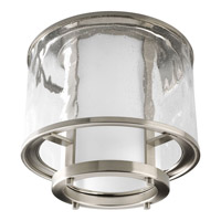 Bay Court 1 Light 12 inch Brushed Nickel Flush Mount Ceiling Light