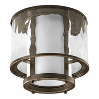 Bay Court 1 Light 12 inch Antique Bronze Flush Mount Ceiling Light