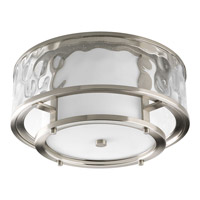 Progress P3942-09 Bay Court 2 Light 15 inch Brushed Nickel Flush Mount Ceiling Light