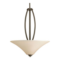 Joy 3 Light 20 inch Antique Bronze Pendant Ceiling Light in Etched Light Umber