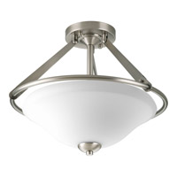 Progress Lighting Moments 3 Light Semi-Flush Mount in Antique Nickel P3952-81