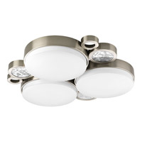 Progress Lighting Bingo 3 Light Flush Mount in Brushed Nickel P3958-09