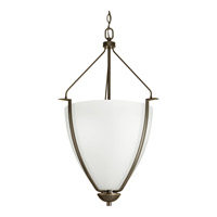 Bravo 1 Light 20 inch Antique Bronze Foyer Pendant Ceiling Light in Etched