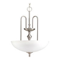 Revive 3 Light 18 inch Brushed Nickel Foyer Pendant Ceiling Light