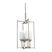 Progress Lighting Alexa 4 Light Foyer Pendant in Brushed Nickel P3977-09