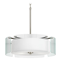 Progress P3980-09 Coupe 3 Light 20 inch Brushed Nickel Pendant Ceiling Light alternative photo thumbnail