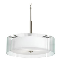 Progress P3985-09 Coupe 4 Light 24 inch Brushed Nickel Pendant Ceiling Light photo thumbnail