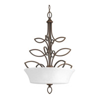 Progress P3989-102 Monogram 3 Light 22 inch Roasted Java Inverted Pendant Ceiling Light