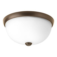 Random 1 Light 11 inch Antique Bronze Close-to-Ceiling Ceiling Light in Etched
