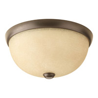 Random 1 Light 11 inch Antique Bronze Close-to-Ceiling Ceiling Light in Etched Umber Linen Glass
