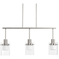 Moderna LED 32 inch Brushed Nickel Linear Chandelier Ceiling Light, Design Series