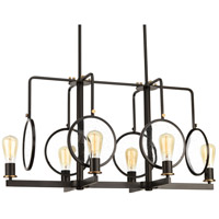 Looking Glass 6 Light 37 inch Antique Bronze and Natural Brass Chandelier Ceiling Light, Design Series