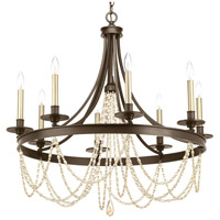 Progress P400005-020 Allaire 8 Light 32 inch Antique Bronze Chandelier Ceiling Light Design Series