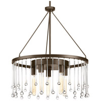 Sway 5 Light 23 inch Antique Bronze Chandelier Ceiling Light, Design Series