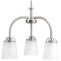 West Village 3 Light 20 inch Brushed Nickel Chandelier Ceiling Light