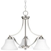 Progress P400011-104 Noma 3 Light 23 inch Polished Nickel Chandelier Ceiling Light Design Series