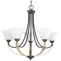 Progress P400012-020 Noma 5 Light 29 inch Antique Bronze Chandelier Ceiling Light Design Series