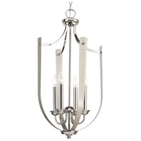 Progress P400014-104 Noma 4 Light 16 inch Polished Nickel Hall & Foyer Ceiling Light Design Series