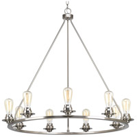 Debut 9 Light 36 inch Brushed Nickel Chandelier Ceiling Light