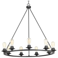 Debut 9 Light 36 inch Graphite Chandelier Ceiling Light