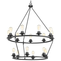 Debut 15 Light 36 inch Graphite Chandelier Ceiling Light