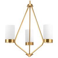 Progress P400021-109 Elevate 3 Light 22 inch Brushed Bronze Chandelier Ceiling Light, Design Series photo thumbnail
