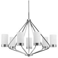Progress P400023-015 Elevate 7 Light 33 inch Polished Chrome Chandelier Ceiling Light Design Series