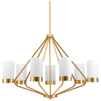 Progress P400023-109 Elevate 7 Light 33 inch Brushed Bronze Chandelier Ceiling Light Design Series