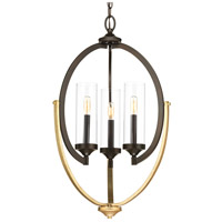 Progress P400024-020 Evoke 3 Light 18 inch Antique Bronze Chandelier Ceiling Light Design Series
