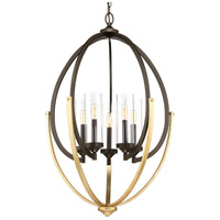 Progress P400025-020 Evoke 5 Light 25 inch Antique Bronze Chandelier Ceiling Light Design Series