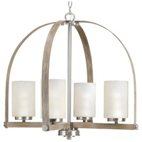 Aspen Creek 4 Light 25 inch Brushed Nickel Chandelier Ceiling Light, Design Series