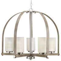 Aspen Creek 5 Light 30 inch Brushed Nickel Chandelier Ceiling Light, Design Series
