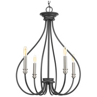 Whisp 4 Light 21 inch Graphite Chandelier Ceiling Light