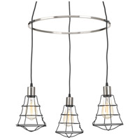 Gauge 3 Light 24 inch Graphite Chandelier Ceiling Light