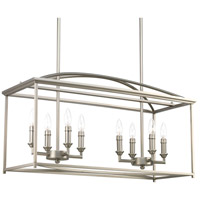 Piedmont 8 Light 12 inch Burnished Silver Chandelier Ceiling Light