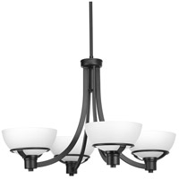 Domain 4 Light 29 inch Black Chandelier Ceiling Light