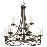Soiree 9 Light 34 inch Antique Bronze Chandelier Ceiling Light, Design Series