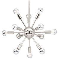 Progress P400040-104 Ion 12 Light 21 inch Polished Nickel Chandelier Ceiling Light Design Series