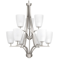Leap 9 Light 26 inch Brushed Nickel Hall & Foyer Ceiling Light