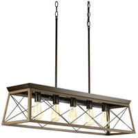 Briarwood 5 Light 38 inch Antique Bronze Linear Chandelier Ceiling Light