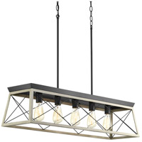 Briarwood 5 Light 38 inch Graphite Linear Chandelier Ceiling Light