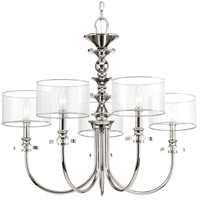 Marche 5 Light 28 inch Polished Nickel Chandelier Ceiling Light