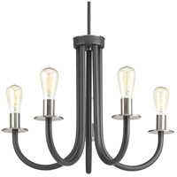 Progress P400051-143 Remix 5 Light 26 inch Graphite Chandelier Ceiling Light Design Series